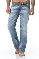 EMPORIO ARMANI Mens Washed Jeans With Belt #99