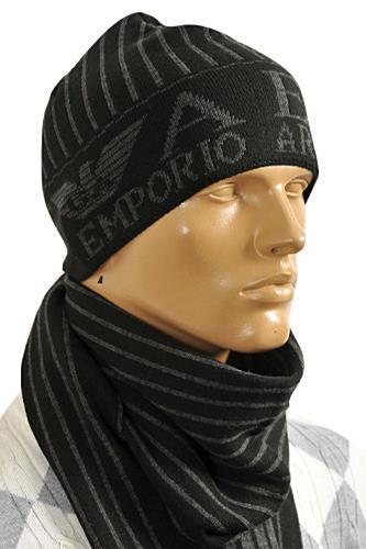 98b9b58dd Mens Designer Clothes | EMPORIO ARMANI Men's Hat/Scarf Set #128