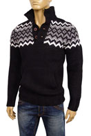 EMPORIO ARMANI Mens Polo Style Warm Sweater #114