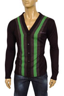 EMPORIO ARMANI Mens V-Neck Fitted Sweater #117