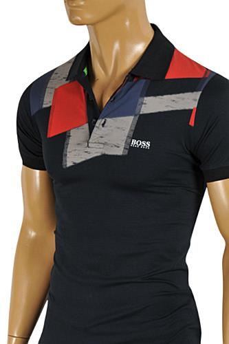 HUGO BOSS Mens Navy Blue Polo Shirt #56