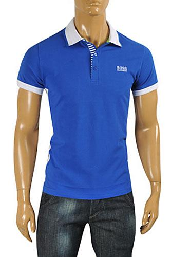 HUGO BOSS Mens Navy Blue Polo Shirt #61