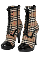 BURBERRY Ladies High-Heel Platform Boots #275