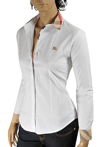 Womens Designer Clothes Burberry Ladies Dress Shirt 192