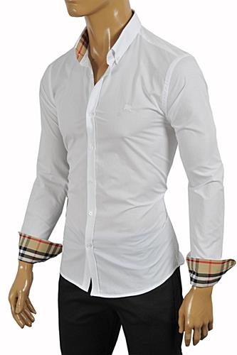 BURBERRY Men's Dress Shirt In White #234