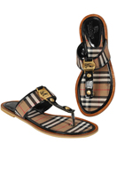 BURBERRY Ladies Flip Flops Leather Sandals #272