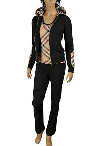 0338026ac Womens Designer Clothes | BURBERRY Ladies' Tracksuit In Black #47 View 1