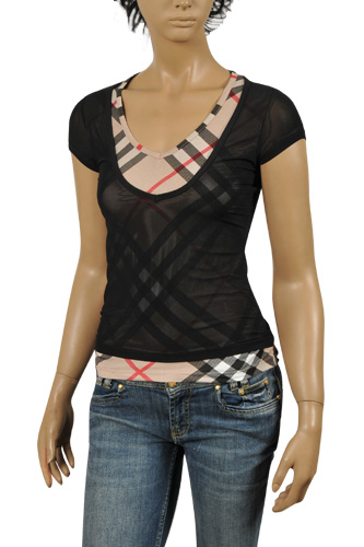BURBERRY Ladies' Short Sleeve Tee In Black #145