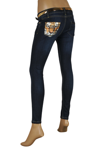 ROBERTO CAVALLI Ladies' Skinny Fit Jeans With Belt #82