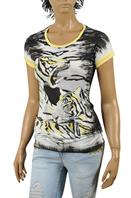 JUST CAVALLI Ladies Short Sleeve Tee #124