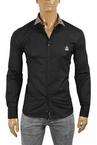 DOLCE & GABBANA Men's Dress Shirt In Black 466