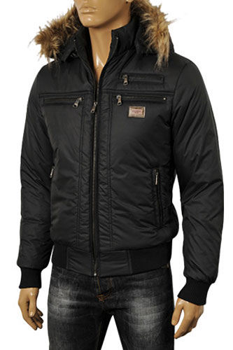 DOLCE & GABBANA Men's Hooded Warm Jacket #394