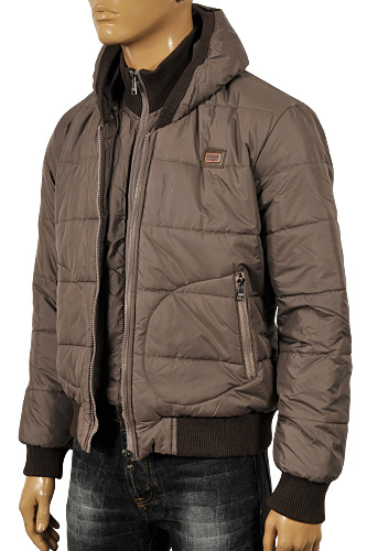 DOLCE & GABBANA Men's Hooded Warm Jacket #395