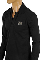 DOLCE & GABBANA Men's Polo Style Long Sleeve Shirt #430