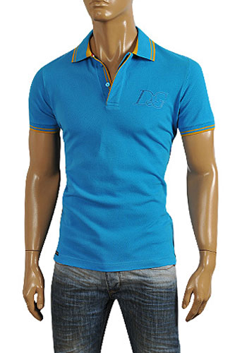 DOLCE & GABBANA Men's Polo Shirt In Blue #442