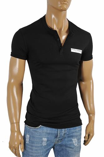 DOLCE & GABBANA men's polo shirt with front logo appliqué 468
