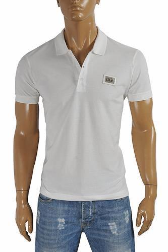 DOLCE & GABBANA men's polo shirt with front logo appliqué 469