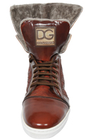 DOLCE & GABBANA Men's High Leather Shoes #235
