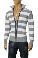 DOLCE & GABBANA Men's Knit Zip Up Sweater #190
