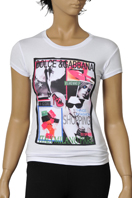 DOLCE & GABBANA Ladies Short Sleeve Top #178