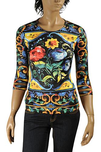 DOLCE & GABBANA Ladies Long Sleeve Top #458