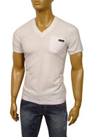 DOLCE & GABBANA Mens V-Neck Short Sleeve Tee #112