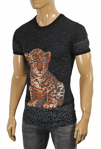 DOLCE & GABBANA T-Shirt with leopard print #252
