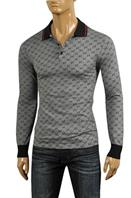 GUCCI Men's Long Sleeve Polo Shirt #308