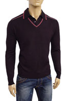 GUCCI Mens V-Neck Polo Style Sweater #24