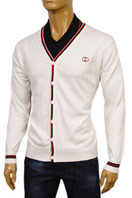 GUCCI Mens V-Neck Button Up Sweater #32