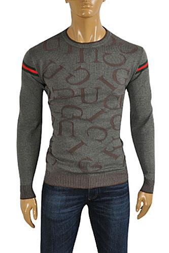 GUCCI Men's Stripe Fitted Knit Sweater #95