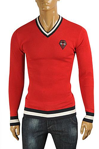 GUCCI Men's V-Neck Knit Sweater #098