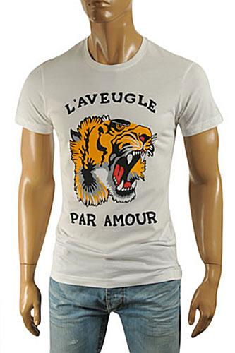 GUCCI Men's Short T-Shirt White #201