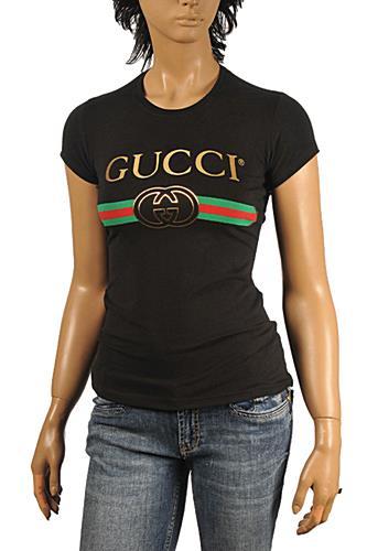 1f4f7ae08de Womens Designer Clothes | GUCCI Women's Fashion Short Sleeve Top #209