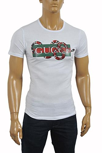 GUCCI Men's Kingsnake print T-Shirt #213
