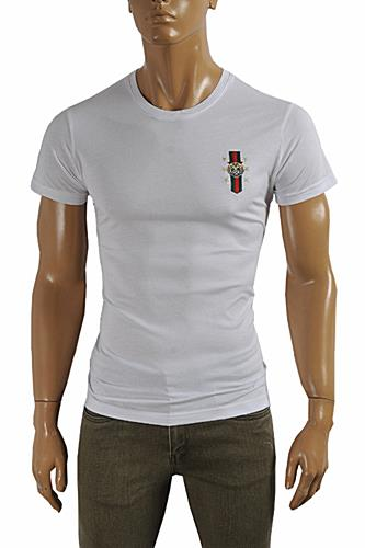 GUCCI cotton T-shirt with front embroidery #229