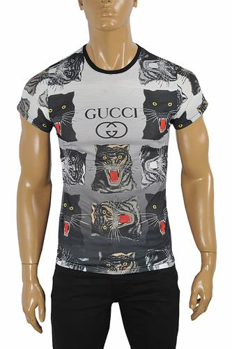 GUCCI Cotton T-Shirt With Angry Cats Print #240