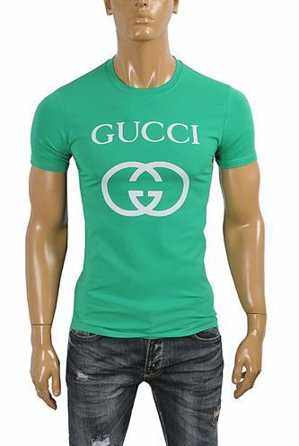 GUCCI cotton T-shirt with front print #253