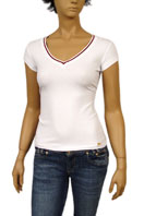 GUCCI Ladies V-Neck Short Sleeve Tee #59