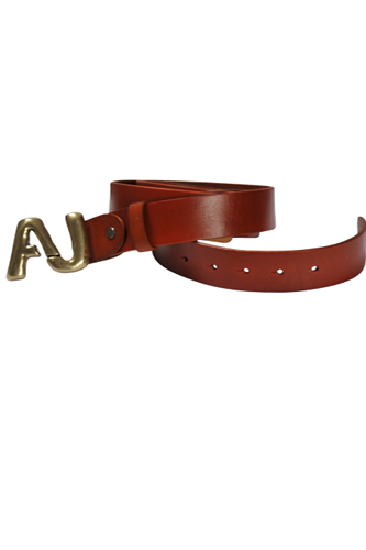 Mens Designer Clothes | ARMANI JEANS Men's Leather Belt #6