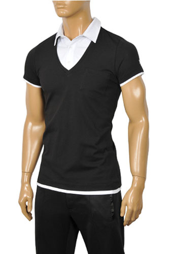 Mens Designer Clothes | ARMANI JEANS Men's Short Sleeve Shirt #202