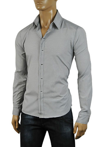 Mens Designer Clothes | ARMANI JEANS Mens Dress Shirt #150