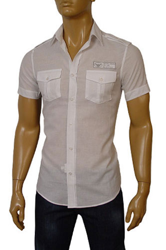 Mens Designer Clothes | EMPORIO ARMANI Mens Short Sleeve Shirt #154