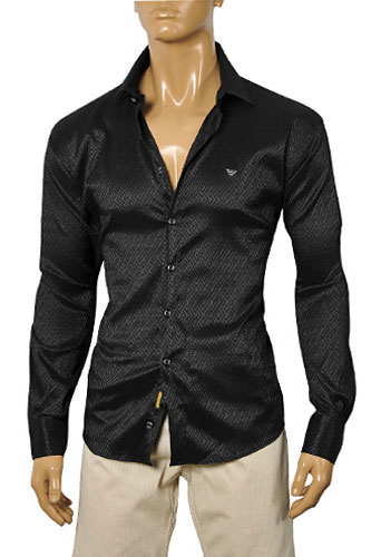 Mens Designer Clothes | ARMANI JEANS Men's Dress Shirt #163
