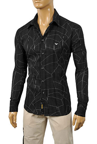 Mens Designer Clothes | ARMANI JEANS Men's Dress Shirt #168