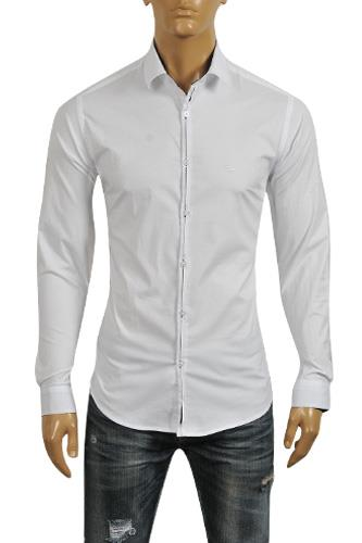 Mens Designer Clothes | EMPORIO ARMANI Men's Dress Shirt #236