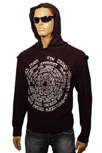 Mens Designer Clothes | ARMANI JEANS Hooded Sweater #37