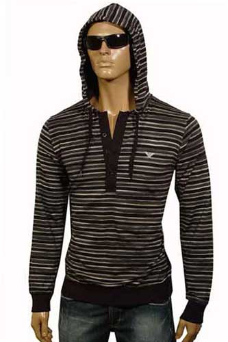 Mens Designer Clothes | EMPORIO ARMANI Button Up Hoodie #66