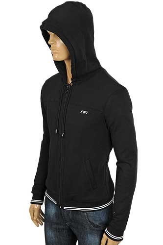 Mens Designer Clothes | ARMANI JEANS Zip Up Cotton Hoodie #96