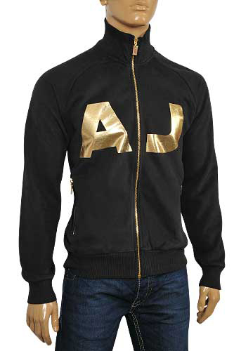 Mens Designer Clothes | ARMANI JEANS Men's Zip Up Cotton Jacket #111